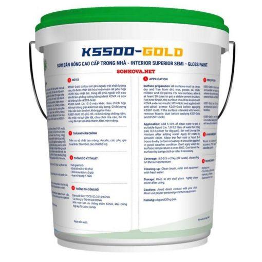 SƠN BÁN BÓNG CAO CẤP TRONG NHÀ K5500-GOLD-1