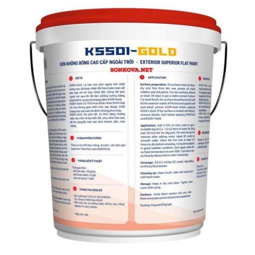 SƠN KHÔNG BÓNG CAO CẤP NGOÀI TRỜI K5501-GOLD-1