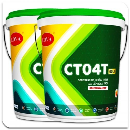 SƠN TRANG TRÍ CHỐNG THẤM CAO CẤP NGOÀI TRỜI CT04T-GOLD-1